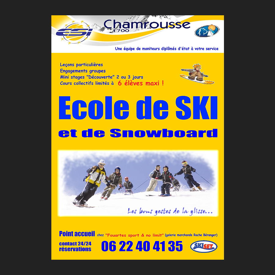 Affiche ESI Chamrousse