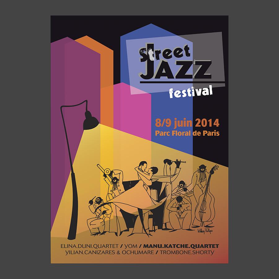 Affiche Street Jazz (greta)