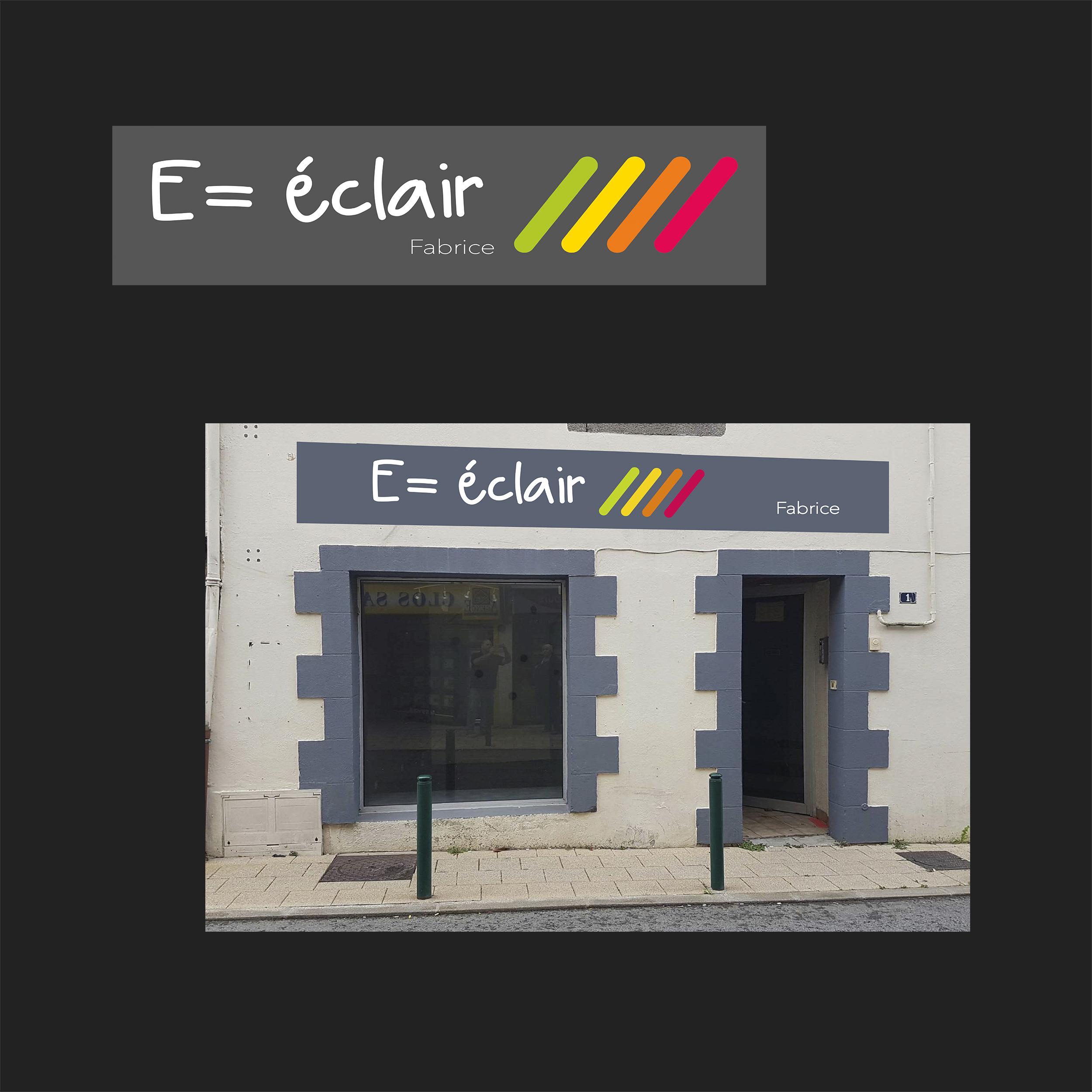 Logo / Enseigne E = éclair